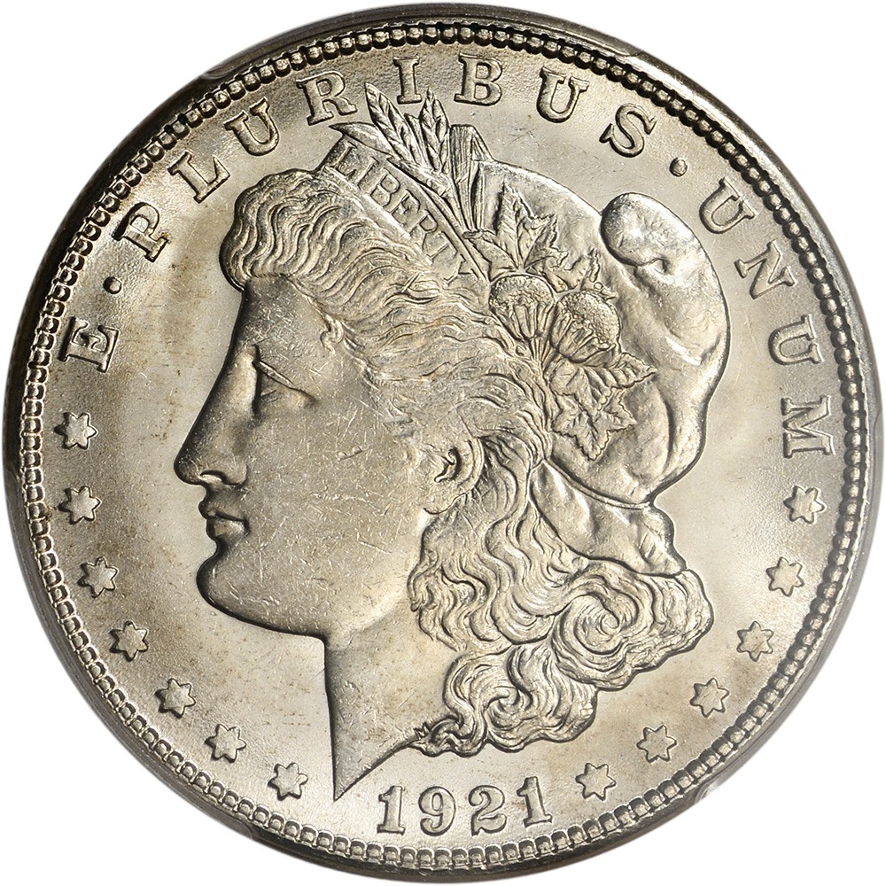 1921 S Us Morgan Silver Dollar 1 Pcgs Ms64 Ebay