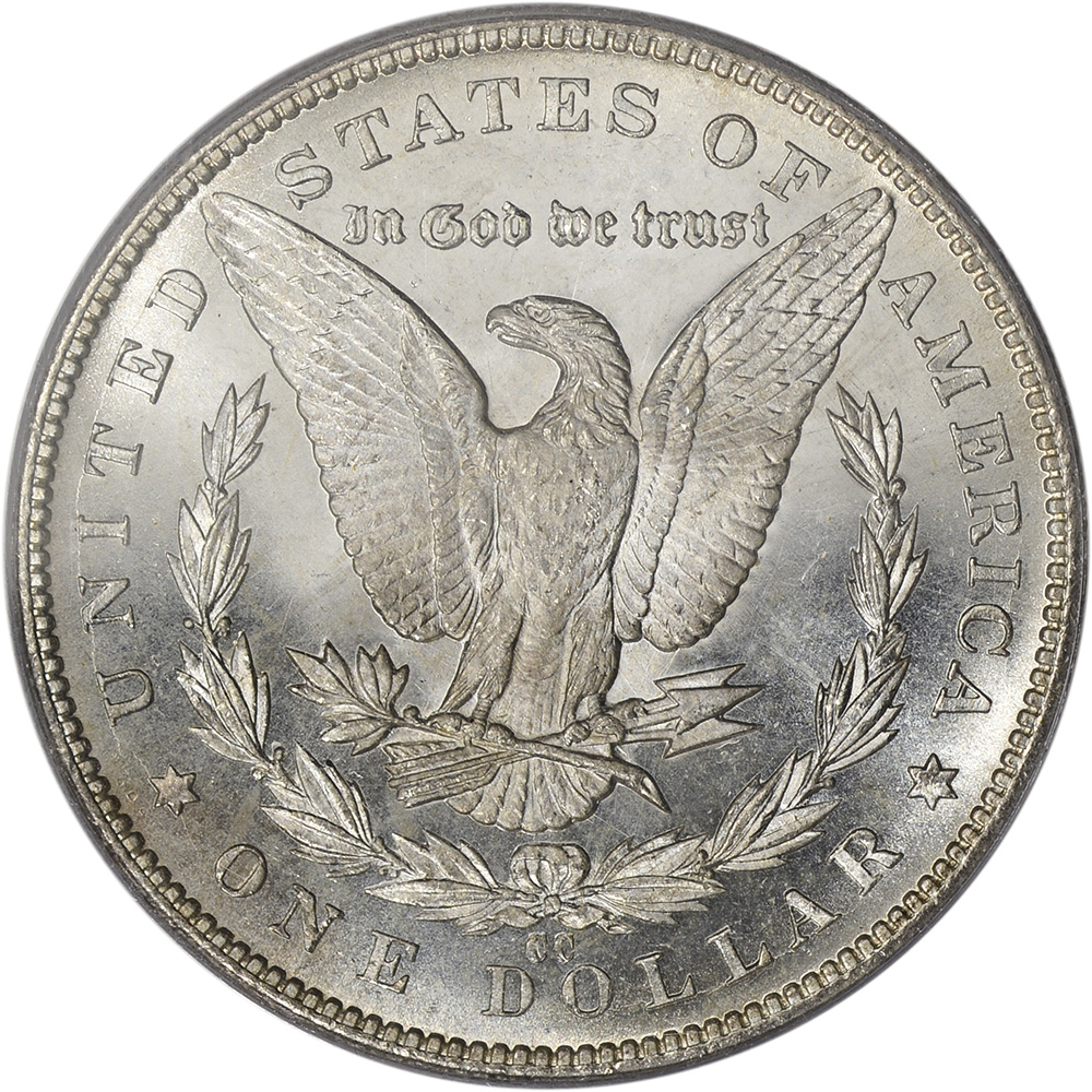 1884 Cc Us Morgan Silver Dollar 1 Pcgs Ms65 Pl