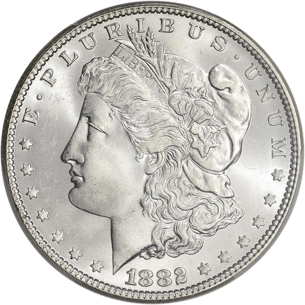 1882 Us Morgan Silver Dollar 1 Pcgs Ms65