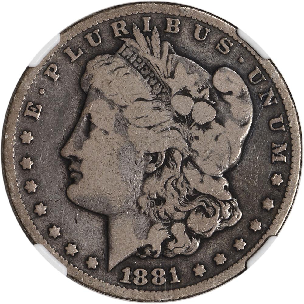 1881 Cc Us Morgan Silver Dollar 1 Ngc Vg10 Ebay