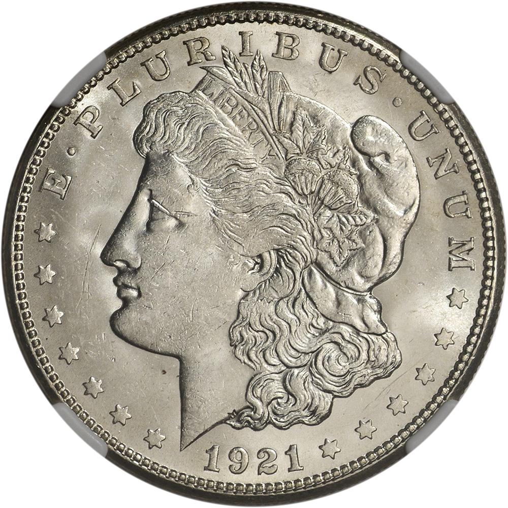1921 S Us Morgan Silver Dollar 1 Ngc Brilliant