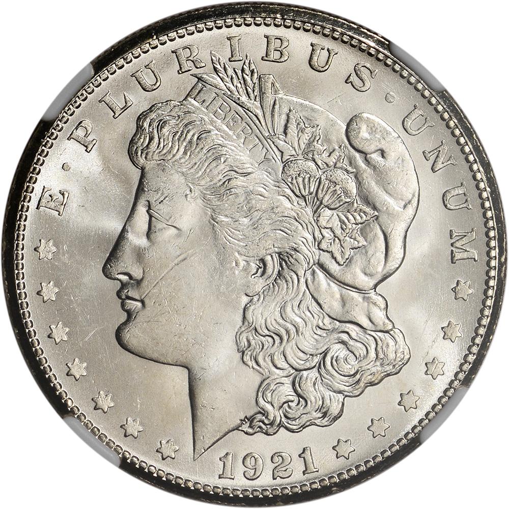 1921 S Us Morgan Silver Dollar 1 Ngc Ms64 Ebay