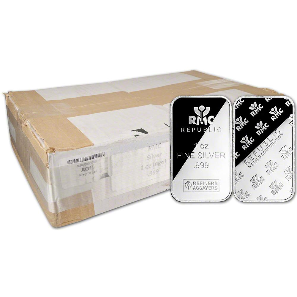 500 Oz Silvers: 500-pc. 1 Oz RMC Silver Bar