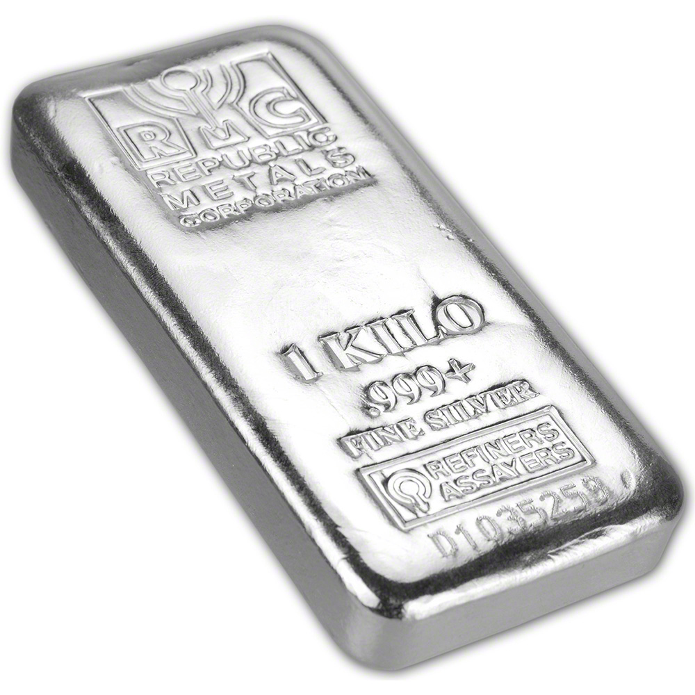 Kilo 32 15 Oz Rmc Silver Bar Republic Metals Corp