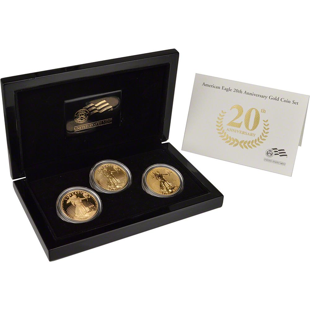 american eagle 20th anniversary coin set