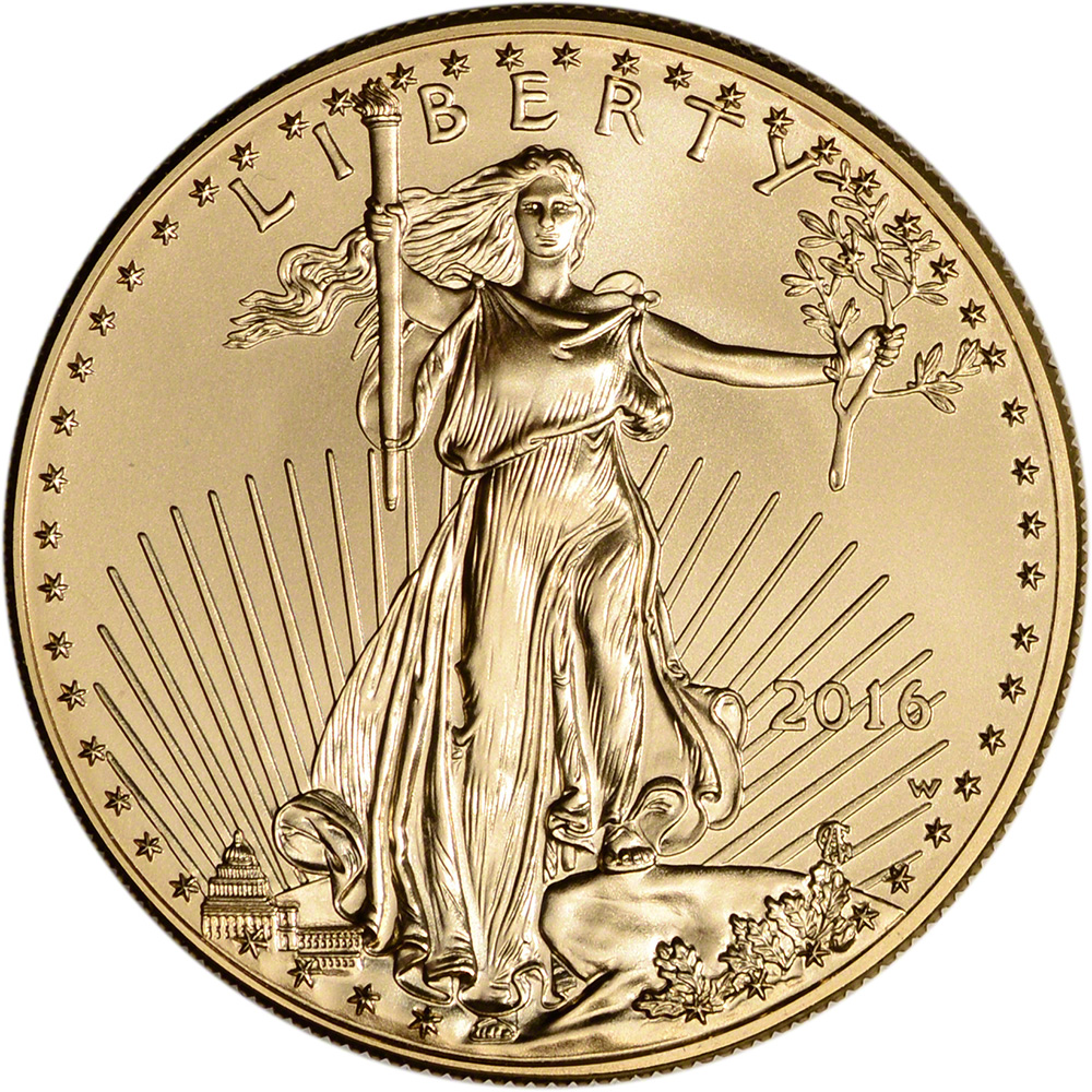 2016 W American Gold Eagle 1 Oz 50 Uncirculated Coin
