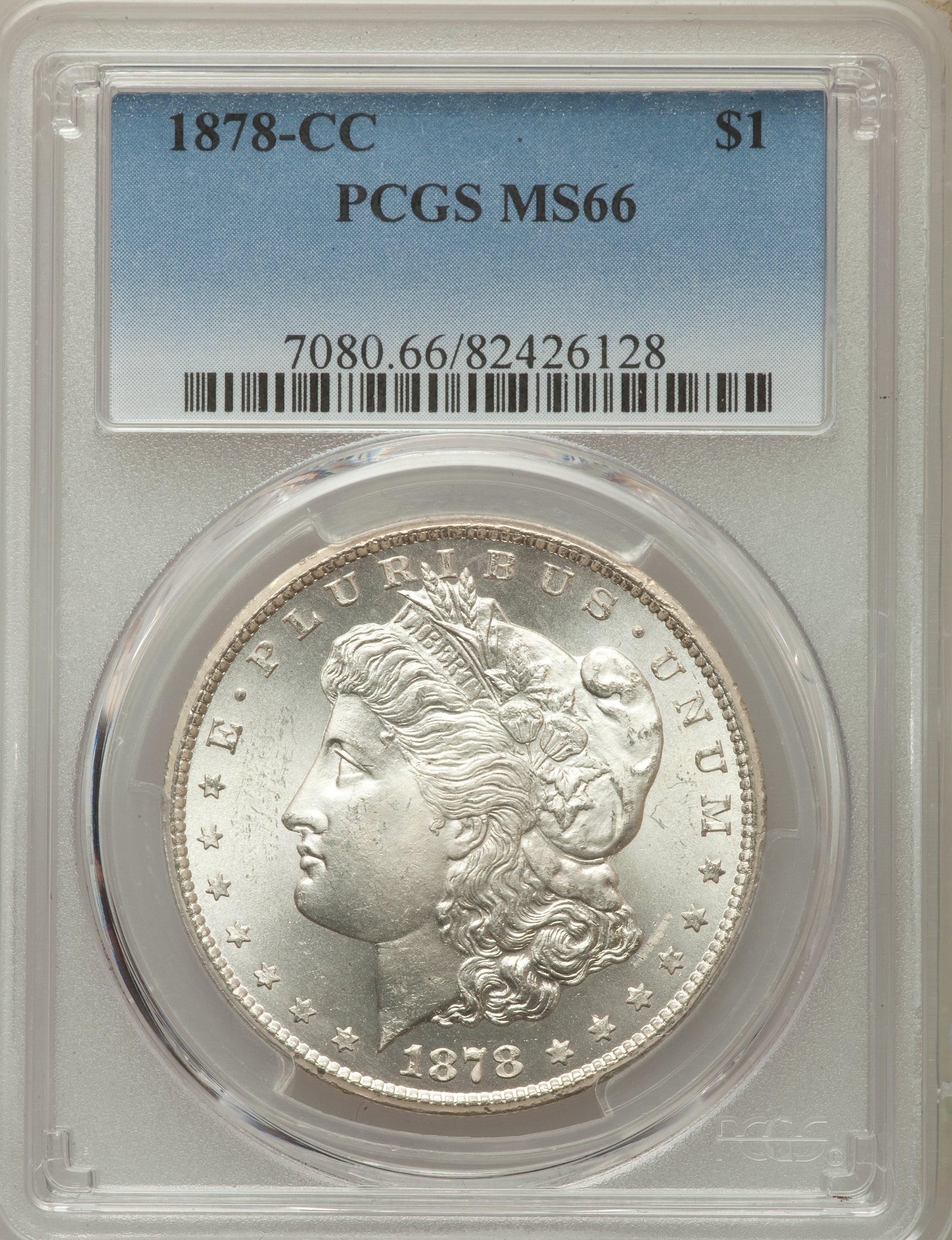 1878 Cc Us Morgan Silver Dollar 1 Pcgs Ms66 Ebay