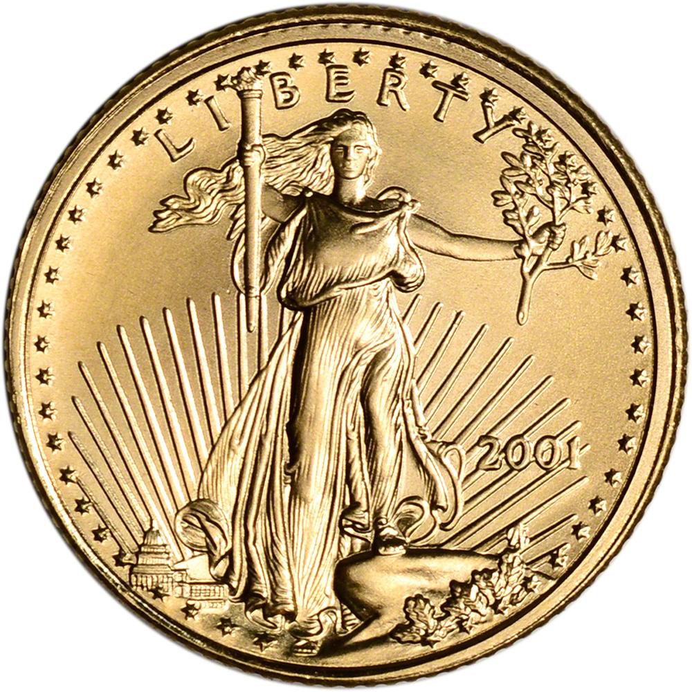 American Gold Eagle Random Date 1//10 oz $5 BU