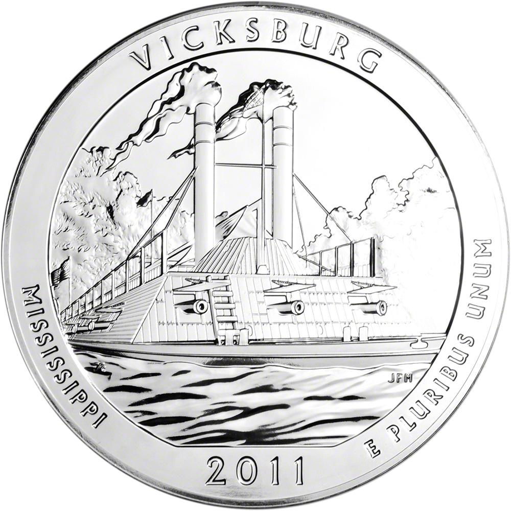 2011 ATB Gettysburg Silver 5 oz BU 25C