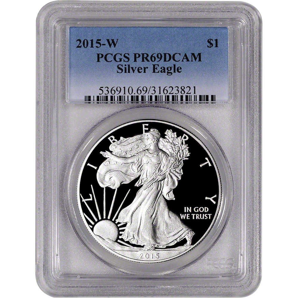 Eagle Frame 2003 W 1oz Silver Eagle Proof PCGS PR69 DCAM
