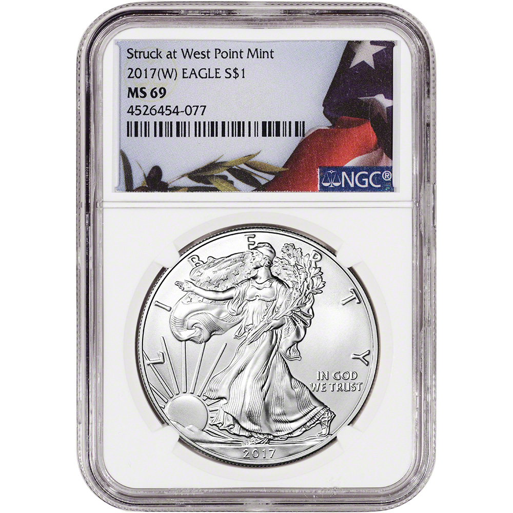 American Silver Eagle Early Releases P NGC MS69 2017-