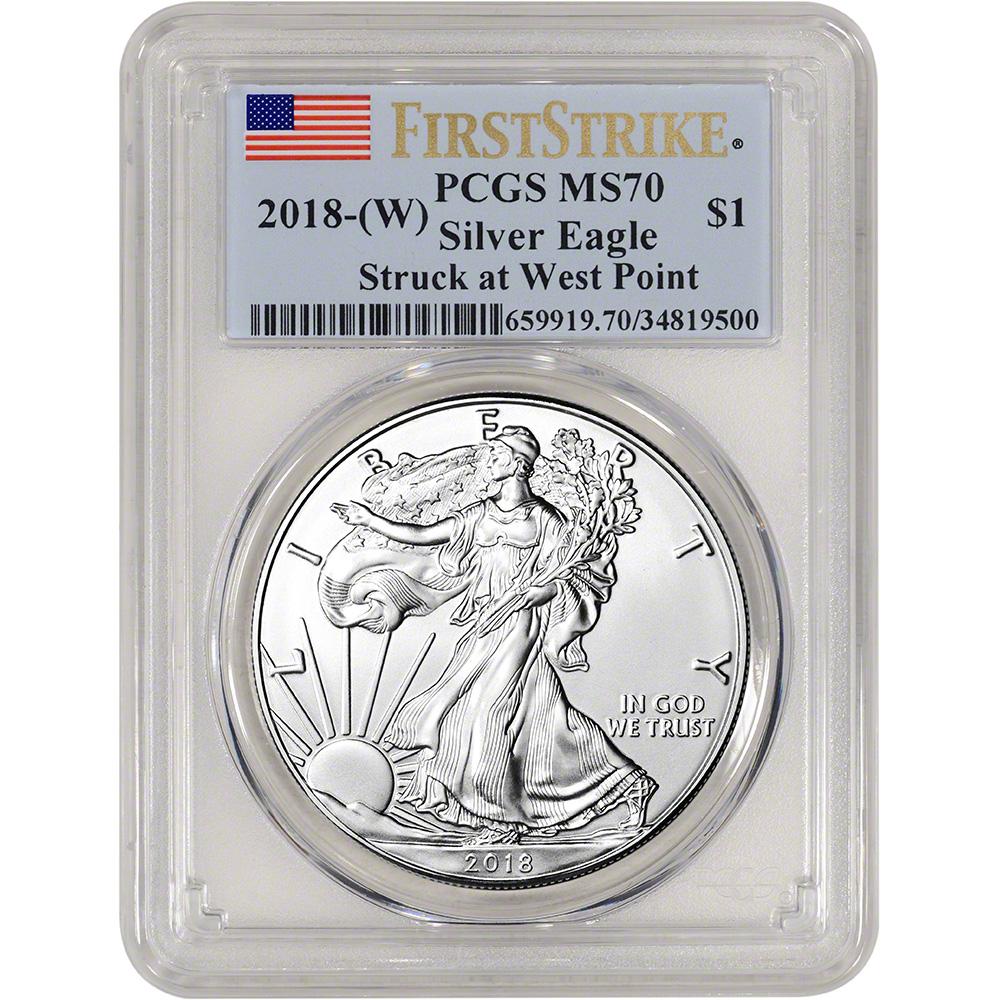 2018 1 Oz Silver American Eagle Bu