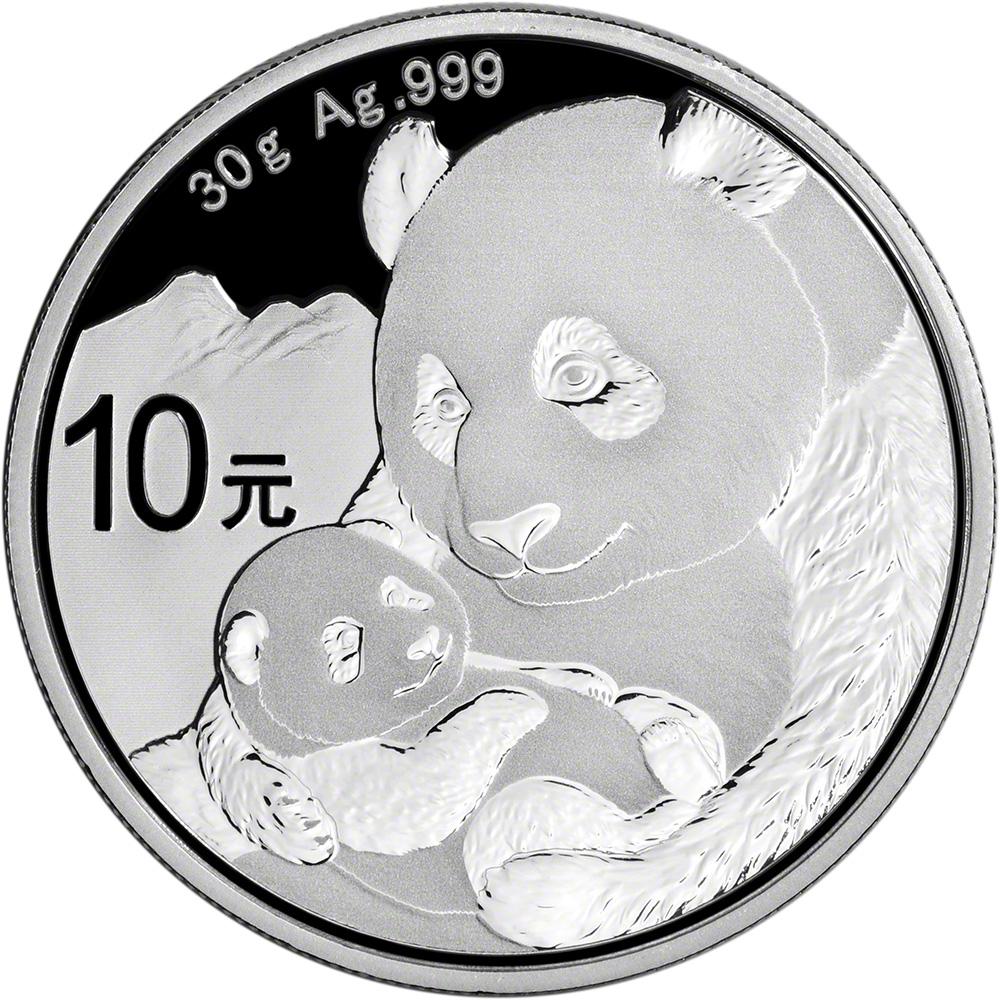 2019 China Silver Panda 30 g 10 Yuan NGC MS70 Early Releases Bilingual Label