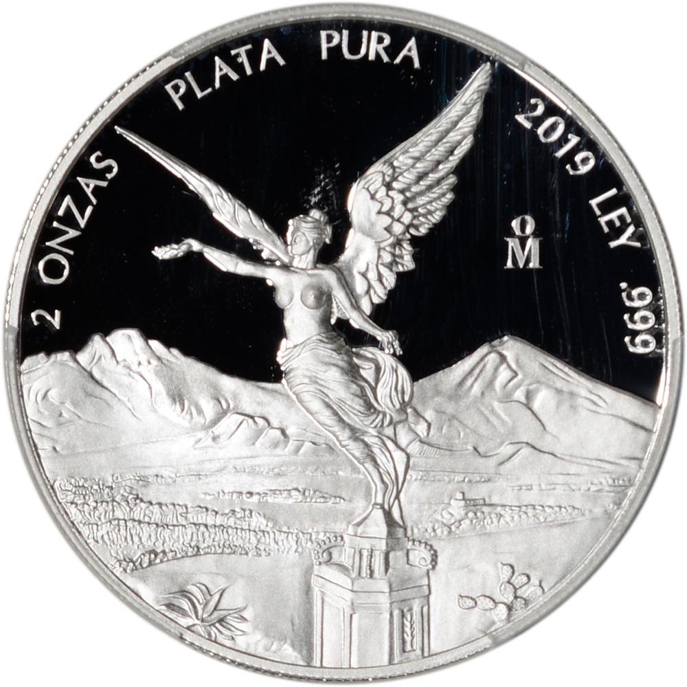 PCGS PR70 First Strike 2019 Mo Mexico Silver Libertad Proof 5 oz 5 Onzas