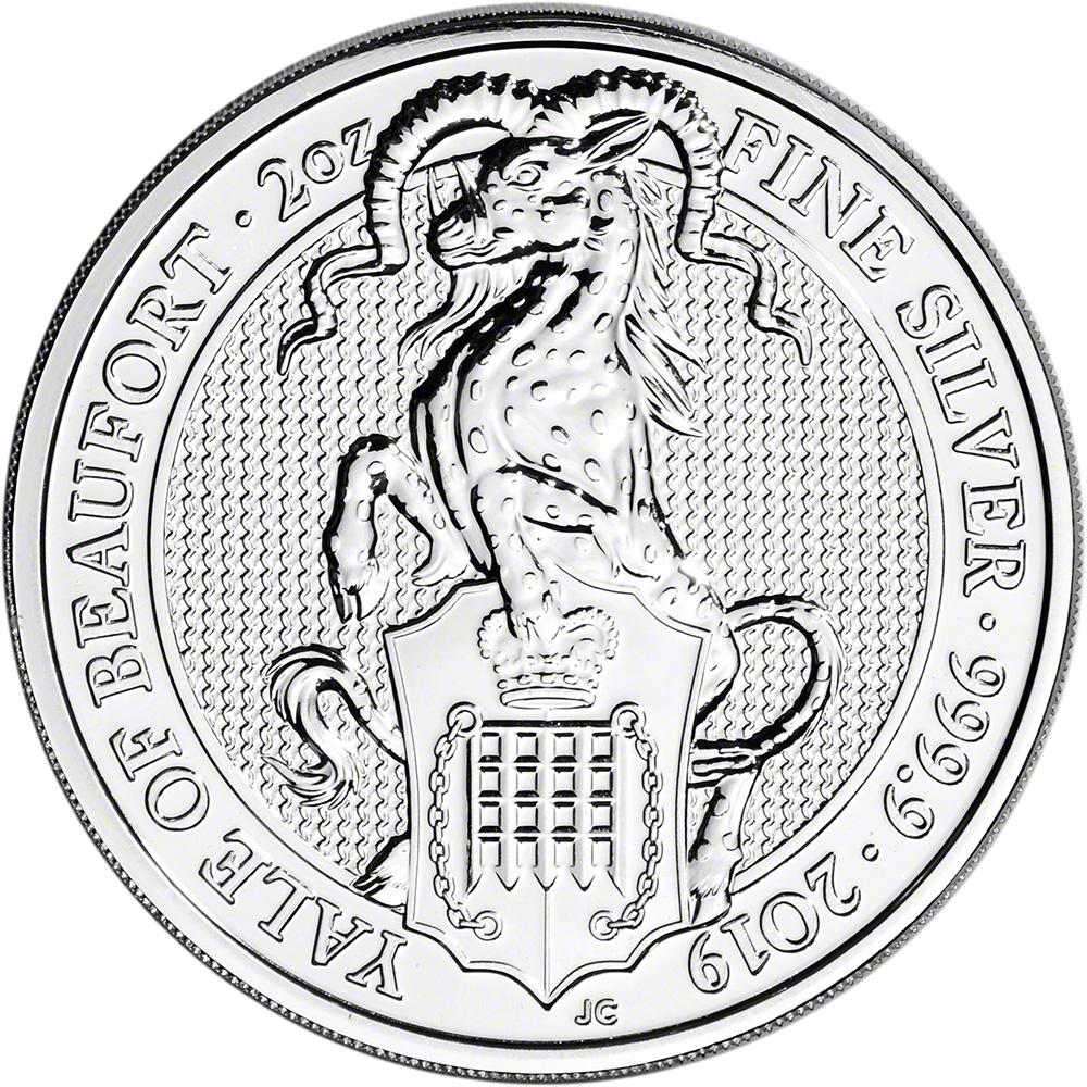 Lot of 3 2019 Britain 2 oz Silver Queen/'s Beasts Yale Beaufort GEM BU SKU57312
