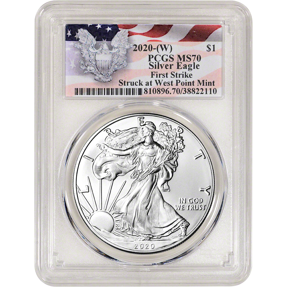 First Strike LAST YEAR OF THIS REVERSE 2020 American Silver Eagle PCGS MS70
