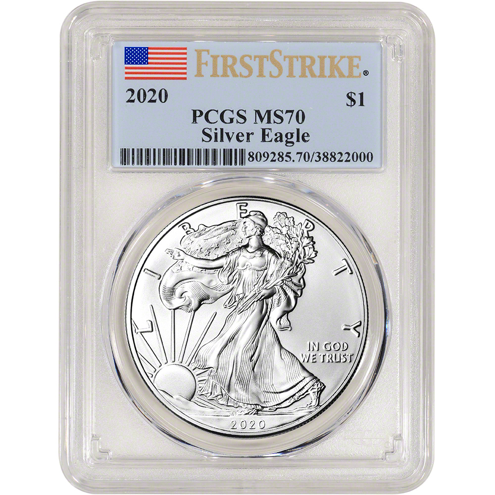 2020 2020 American Silver Eagle First Strike $1 MS-70 PCGS