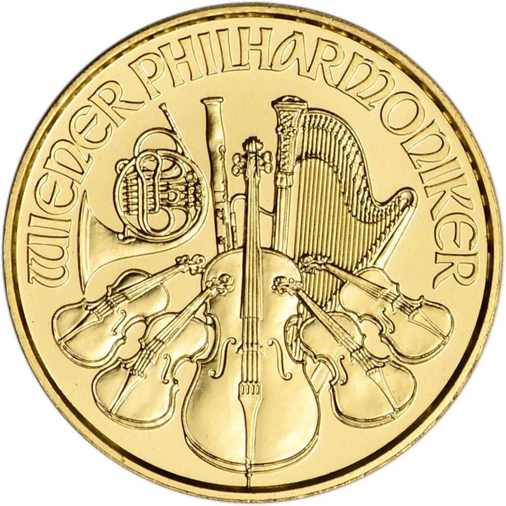 BU 2020 Austria Gold Philharmonic 1//10 oz 10 Euro
