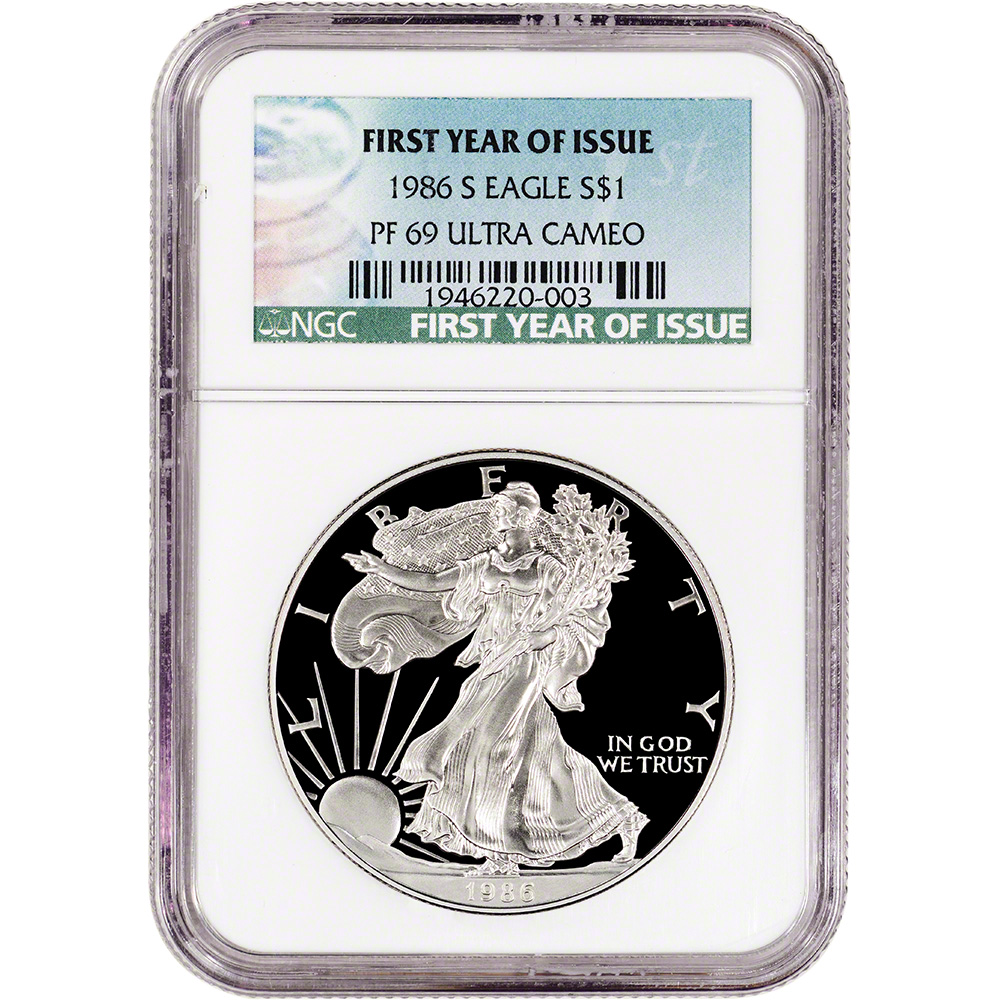1992-S American Silver Eagle Proof NGC PF69 UCAM Large Label