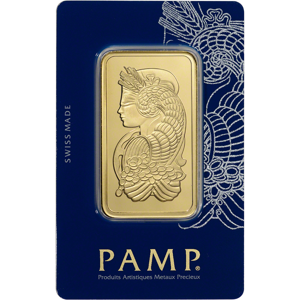 100 Gram Gold Bar Pamp Suisse Fortuna 999 9 Fine In Sealed Ay