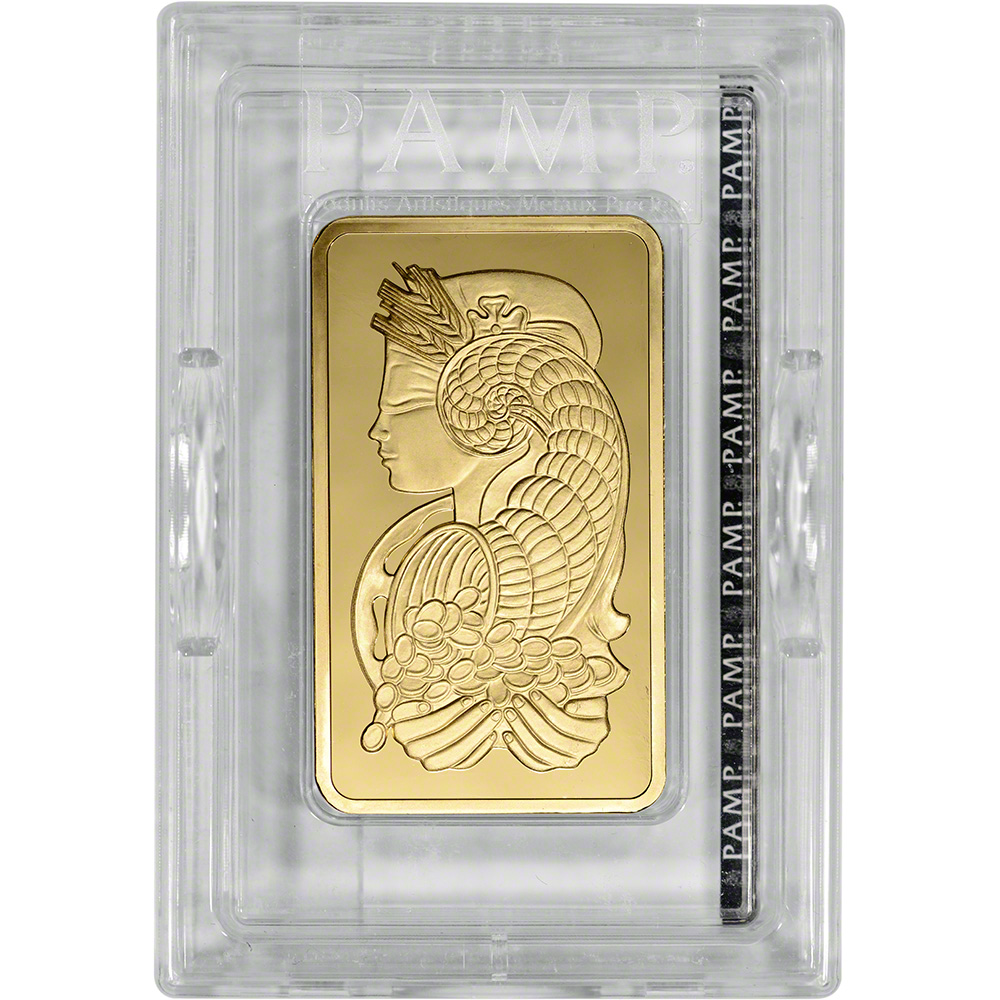 10 Oz Gold Bar Pamp Suisse Fortuna 999 9 Fine In Sealed Ay