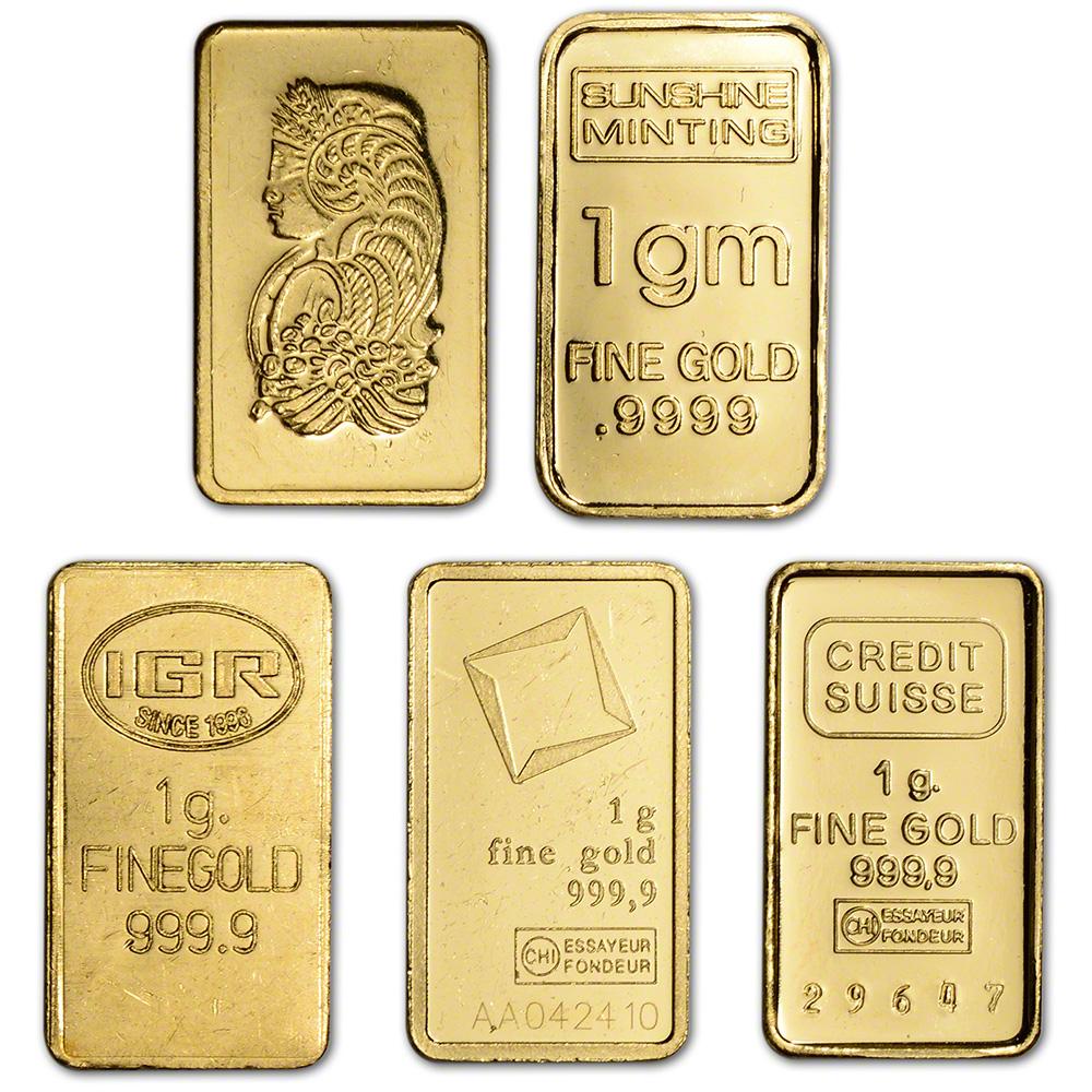 1 Gram Gold Bar Random Brand