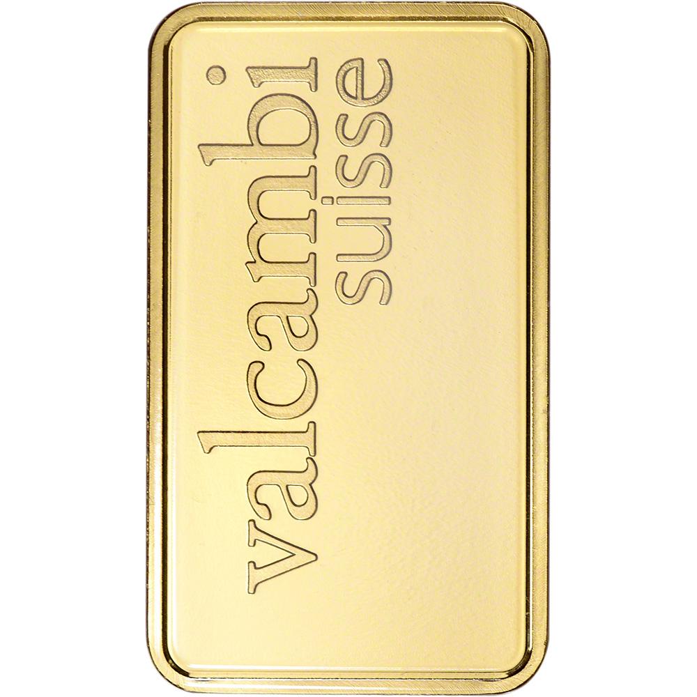 Valcambi Suisse 20 gram Gold Bar 999.9 Fine in Sealed Assay