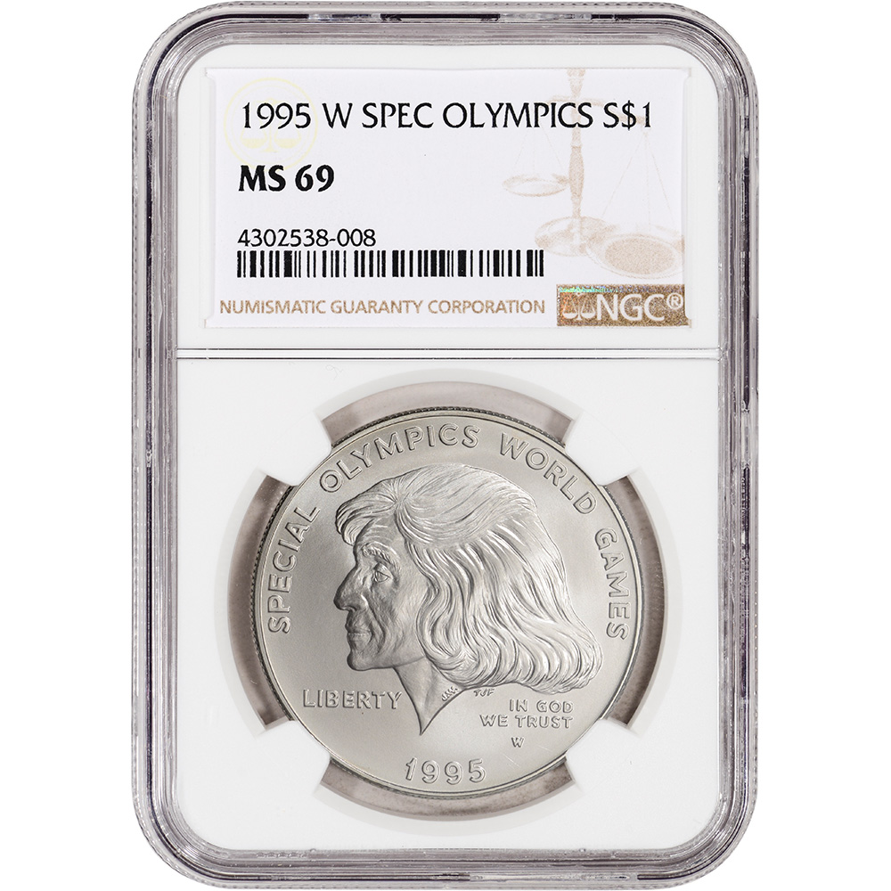 1995 W Special Olympics World Games Commemorative $1 Uncirculated US Mint