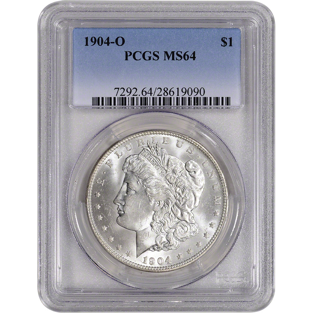 PCGS MS64 1904-O Morgan Silver Dollar New Orleans Gold Shield Secure