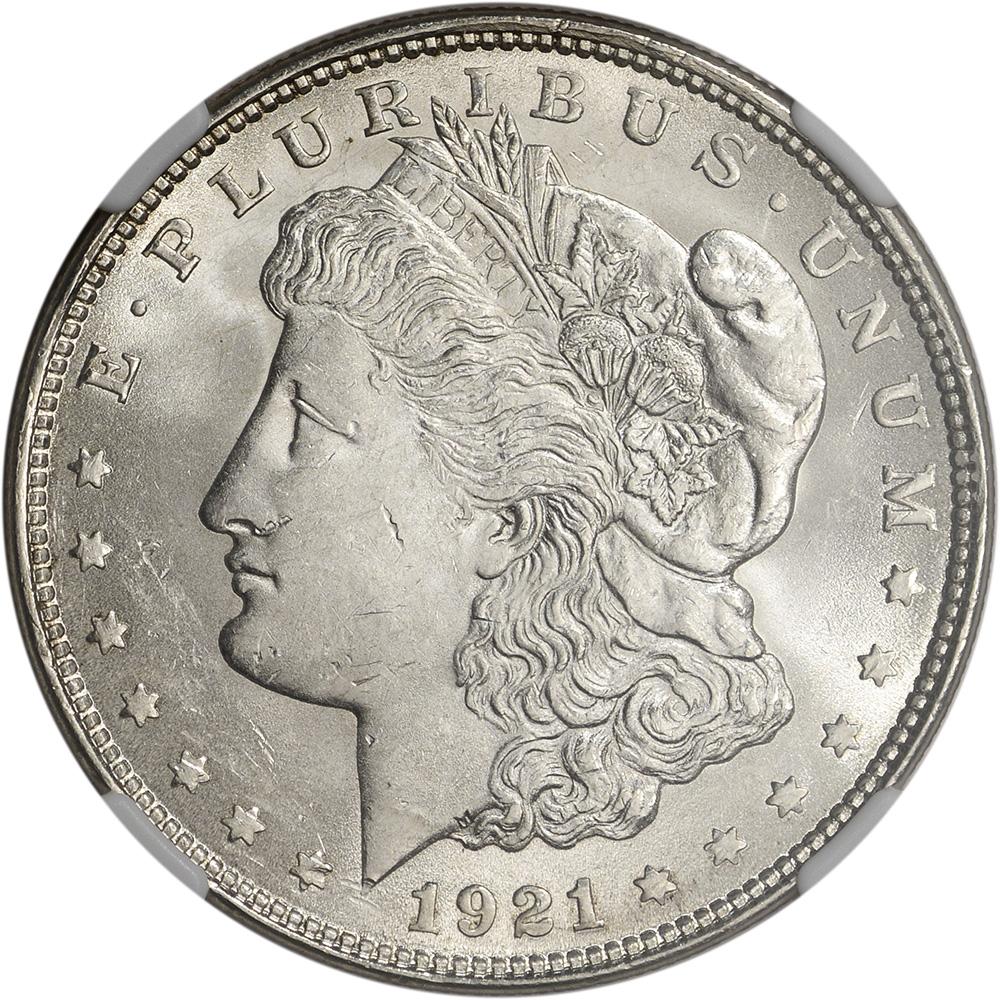 1921 Us Morgan Silver Dollar 1 Ngc Brilliant