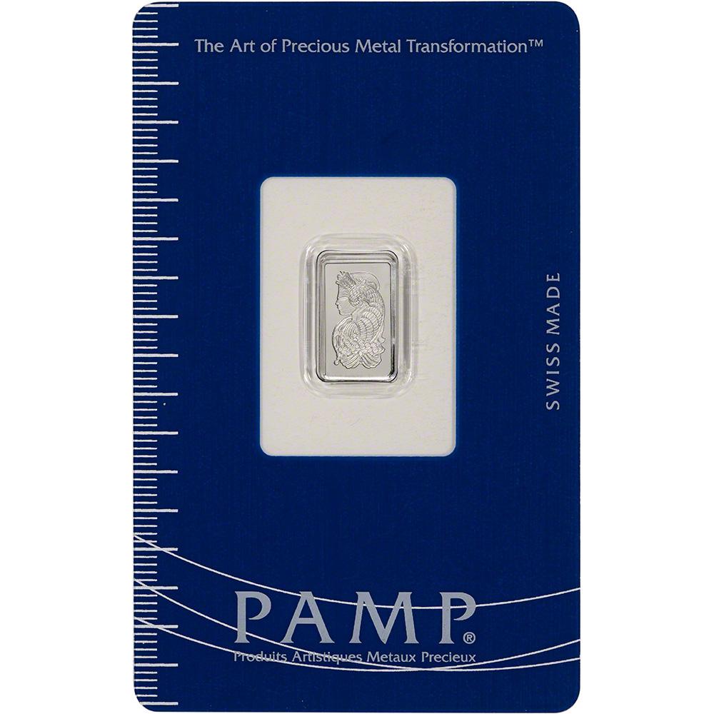 999.5 Fine in Sealed Assay 5 gram Platinum Bar PAMP Suisse Fortuna