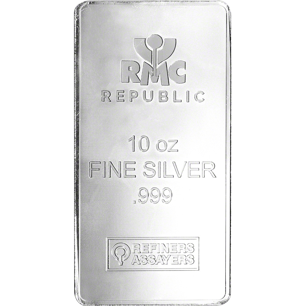 10 oz Republic Metals RMC Sealed Silver Bar .999 Fine