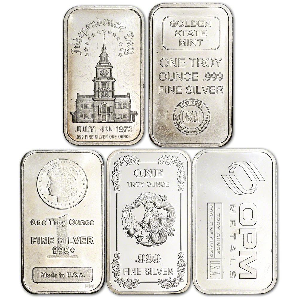 Platinum Bar Secondary Market 1 oz 999.5 Fine Random Brand