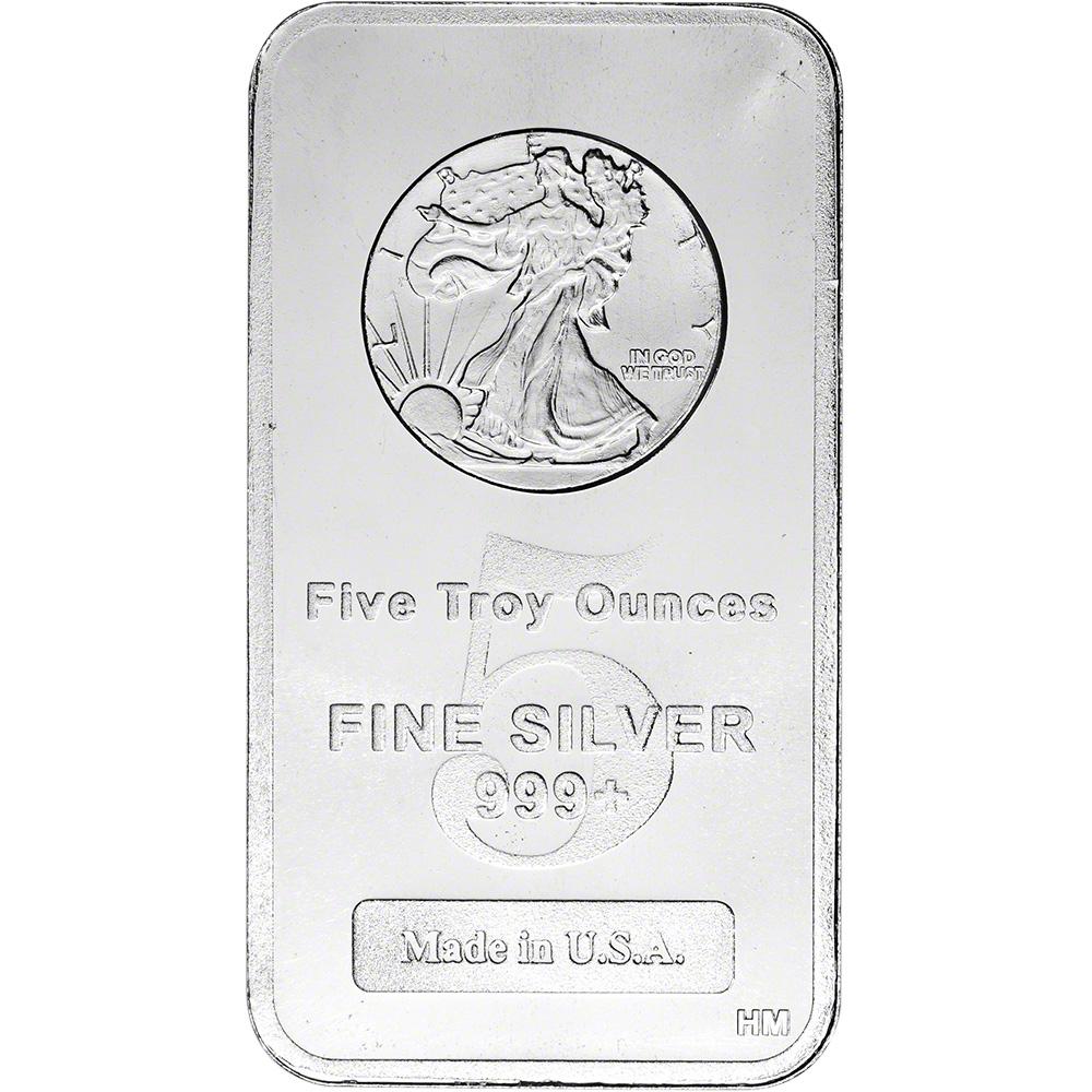 Highland Mint Silver Bar Fine Walking Liberty Design .999 10 oz