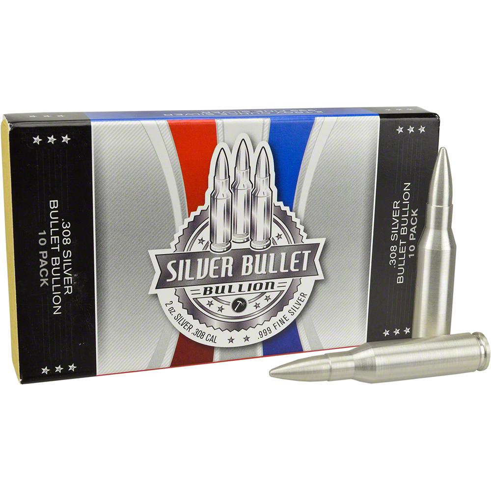 2 oz Silver Bullet .308 Caliber .999 Fine in Gift Box