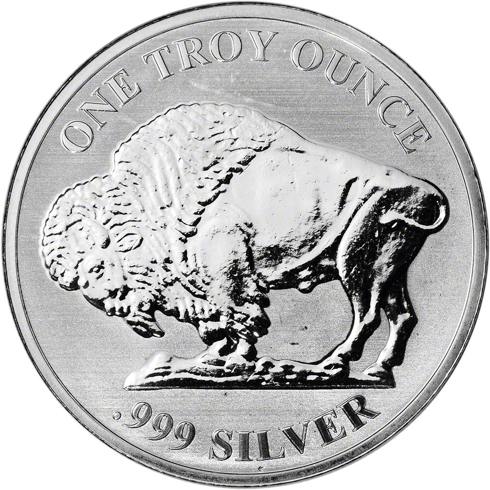 .999 Silver Bar Proofs LIBERTY Indial Head 1 oz Buffalo Obverse Reverse