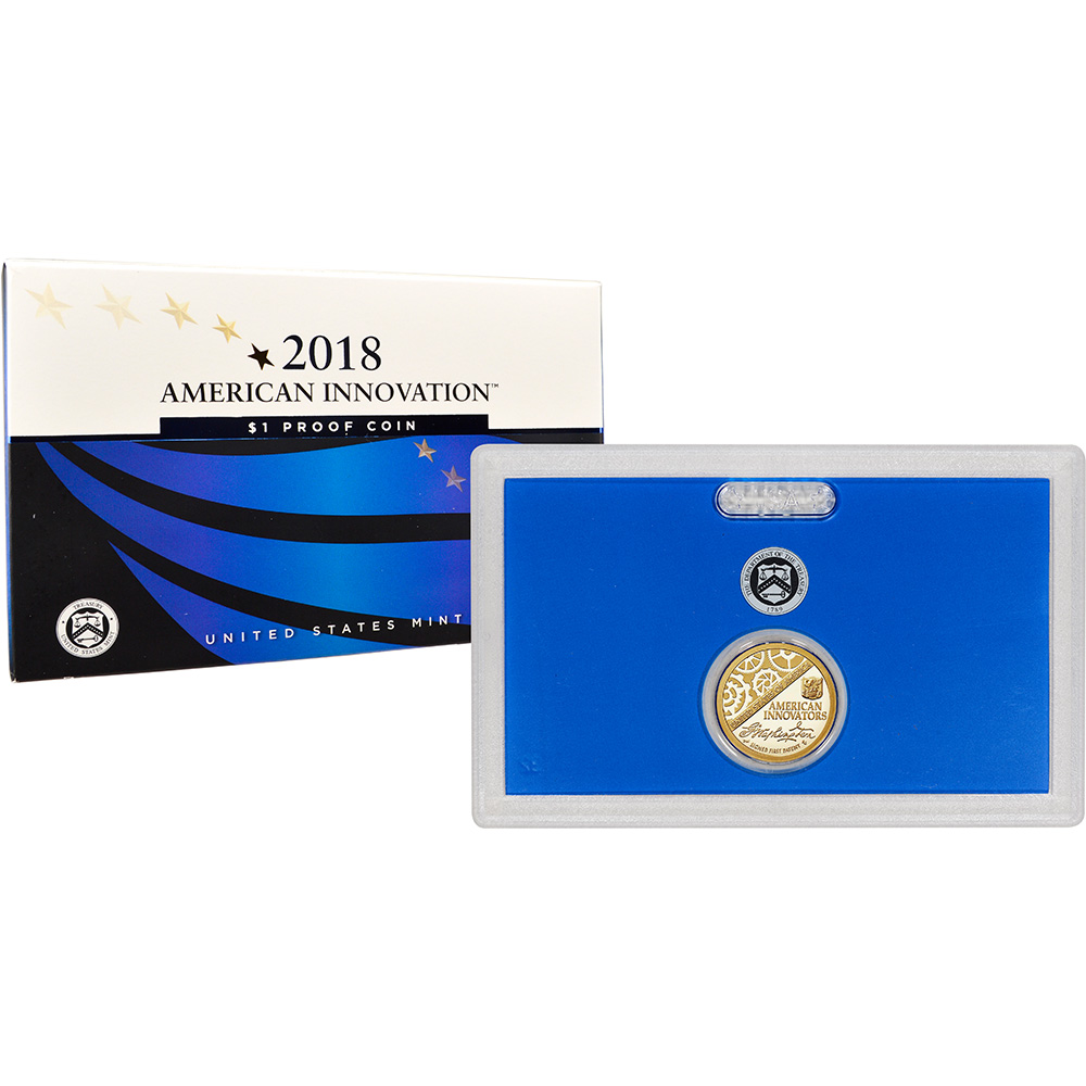 2018-S American Innovation $1 Proof Coin With Box And COA With US MINT Packaging