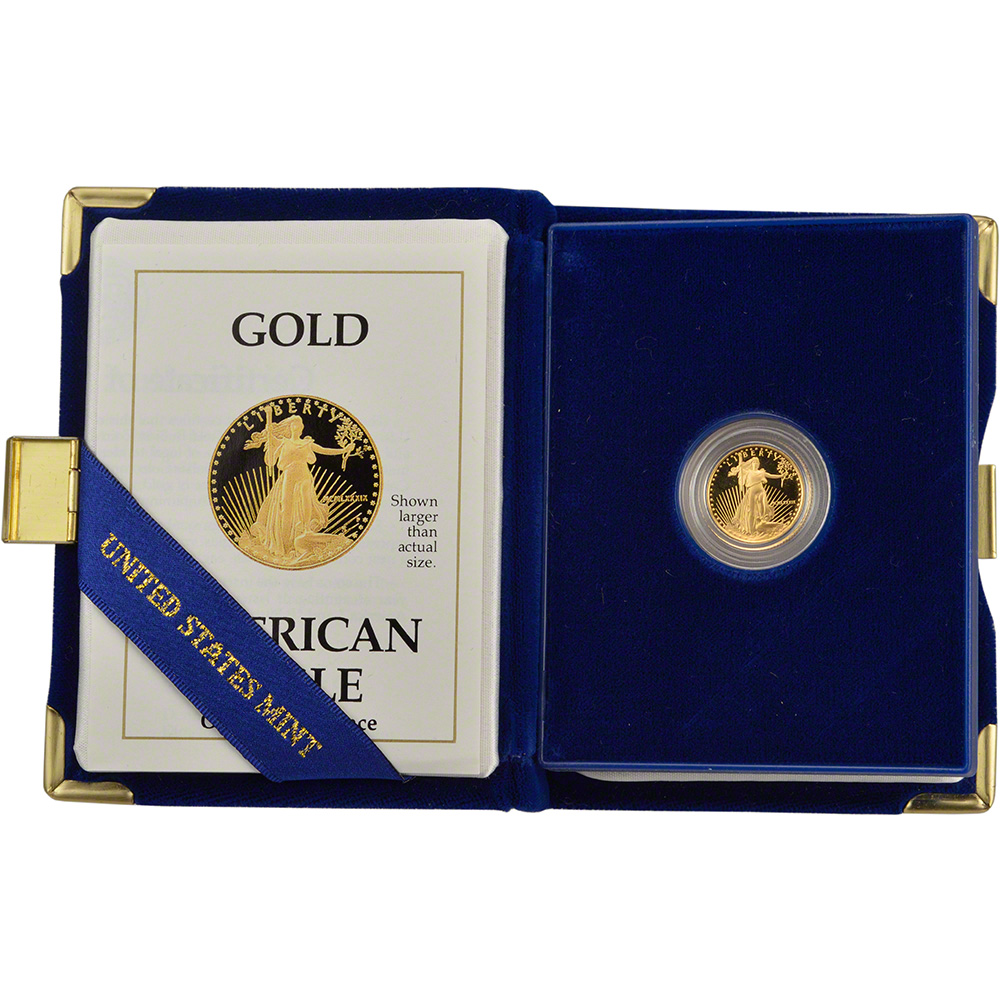 $5 in OGP 1989-P American Gold Eagle Proof 1//10 oz