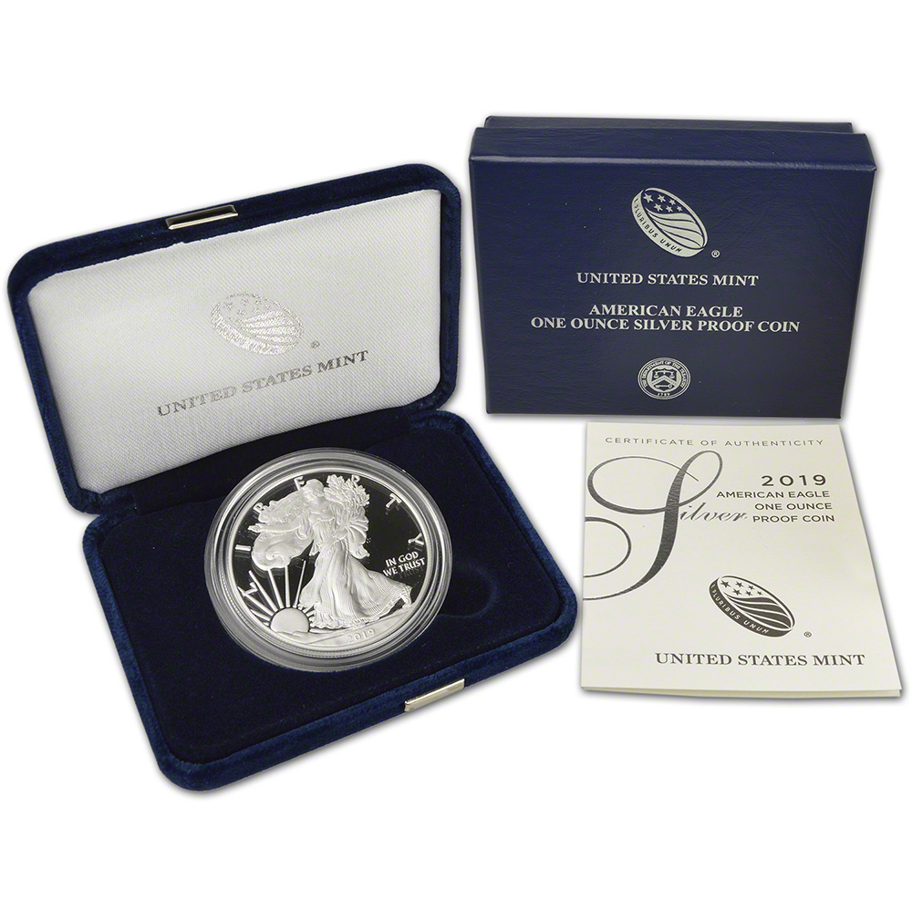 19EM 2019-S  American Eagle  One Ounce  Silver Proof