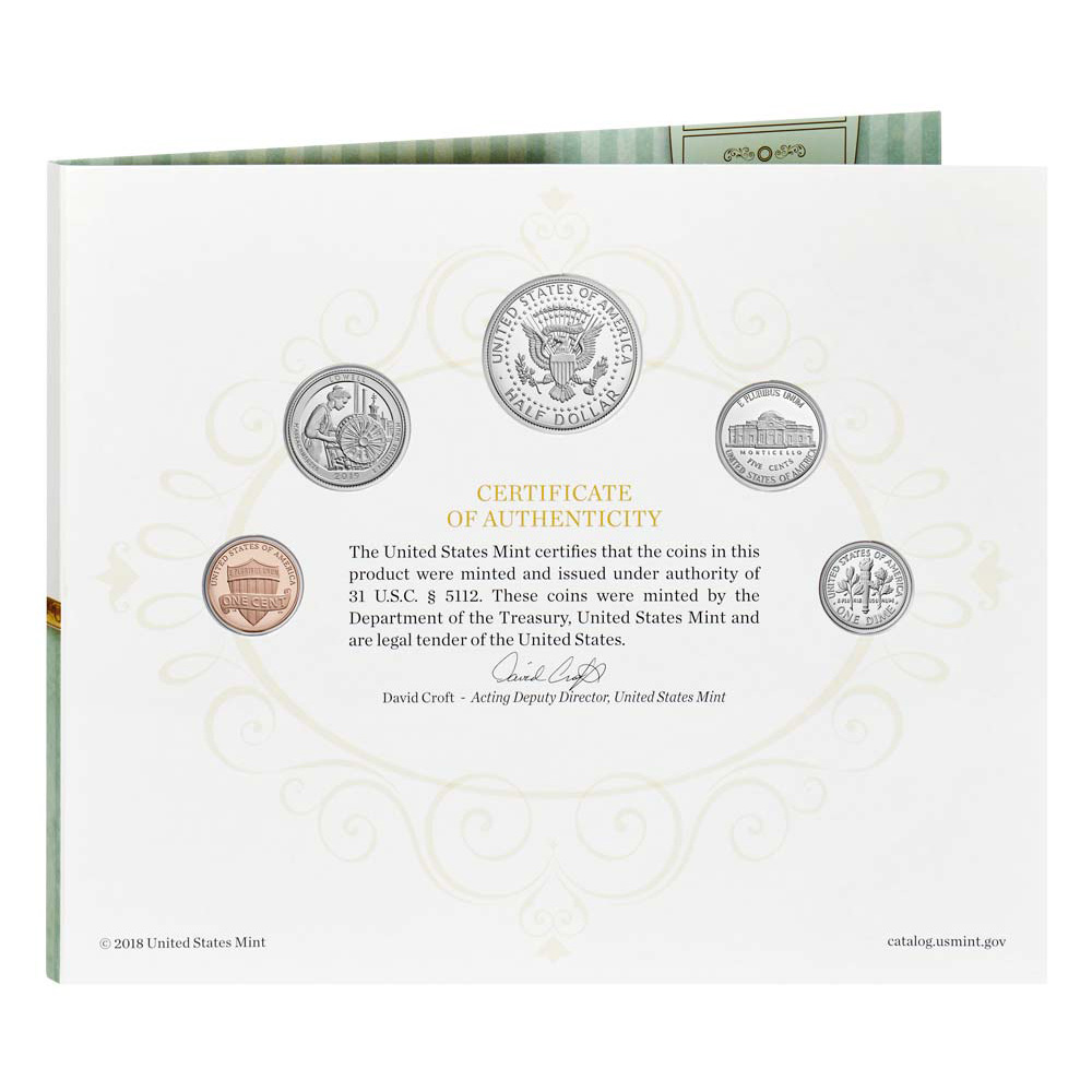 BIRTHDAY GIFT 5 COIN PROOF SET Official Issue 2019 S US MINT BIRTH SET 19RD