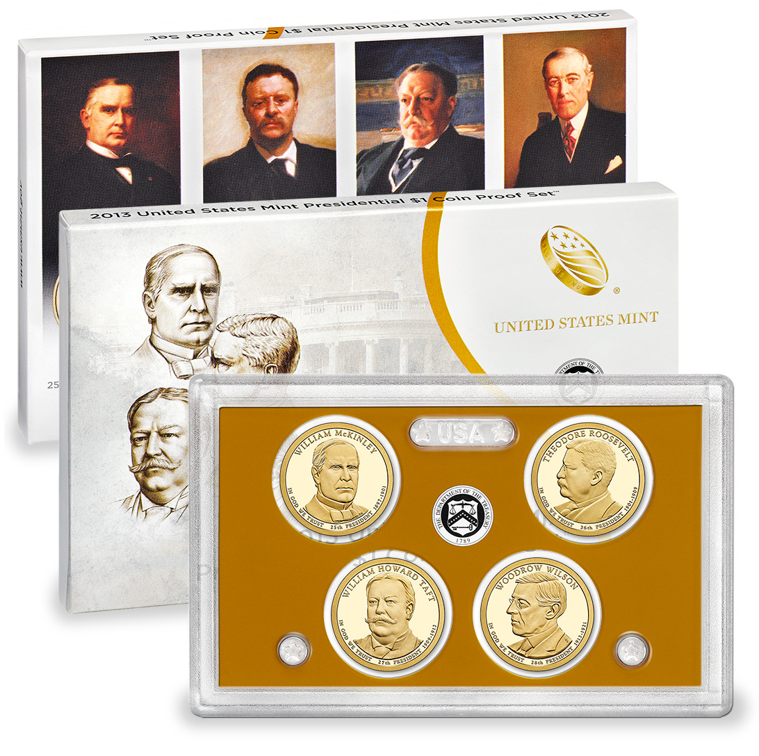 2013 US Mint Presidential $1 Coin Proof Set