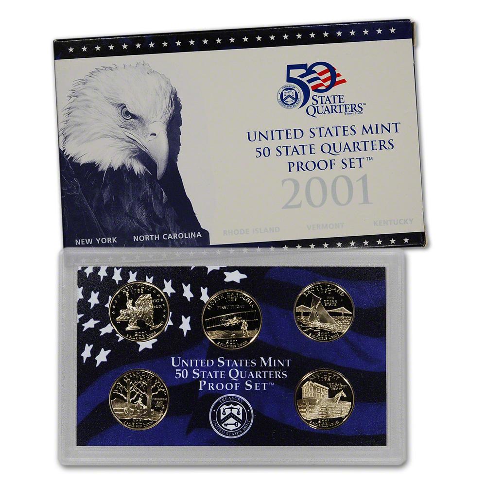 2001 United States Mint 50 State Quarters Proof Set™