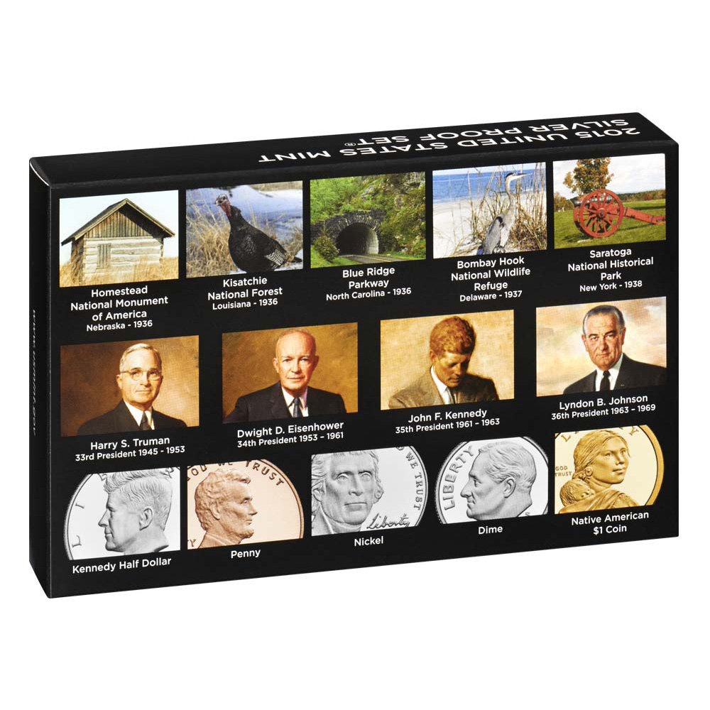 2015 S US Mint 90/% Silver Proof 14 Coin Set with box and COA low mintage SW2