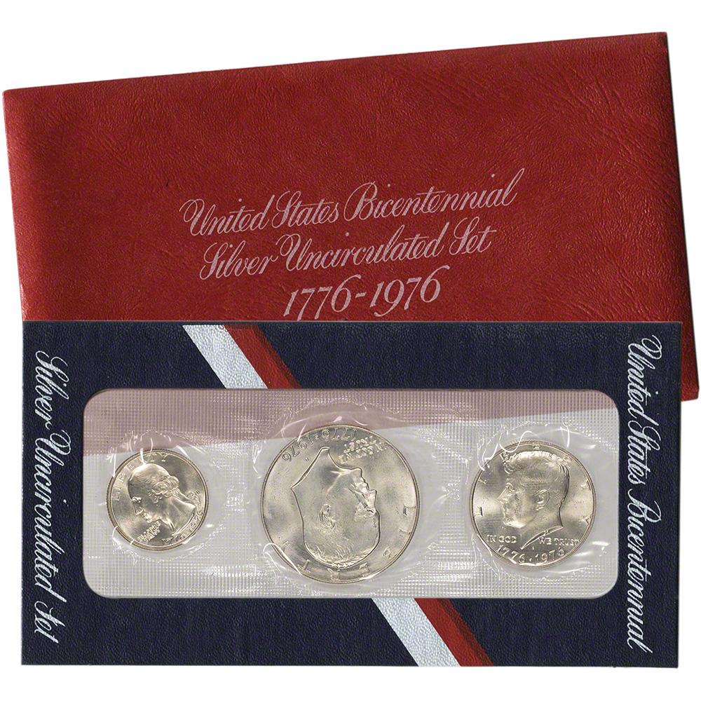 1976 Collectible 3 PC COIN SET// USA BICENTENNIAL 1776-1976