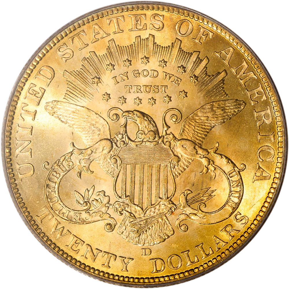 1906 D Coronet Head Gold 20 Double Eagle Liberty Head Twenty