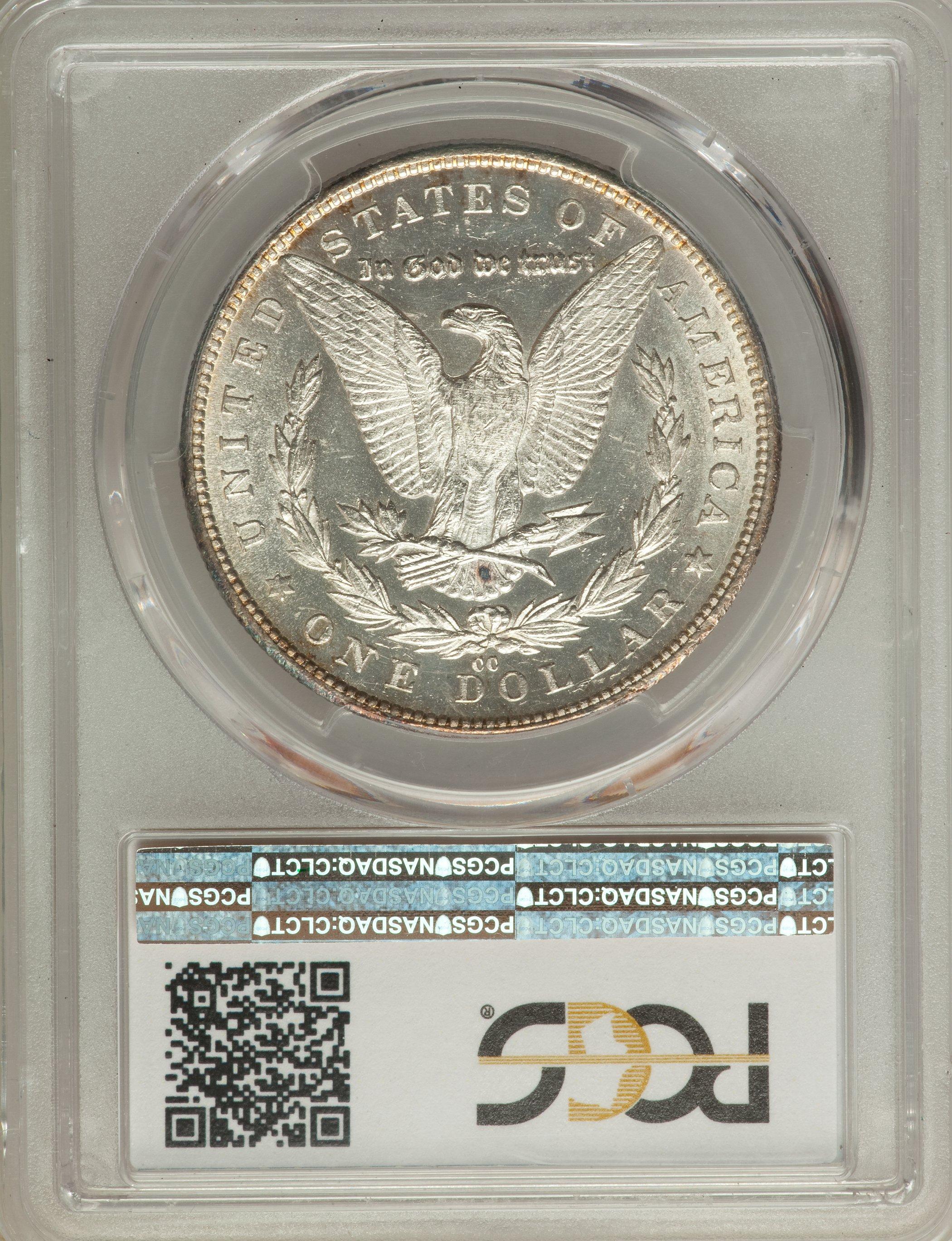 1879 Cc Us Morgan Silver Dollar 1 Pcgs Ms61 Ebay