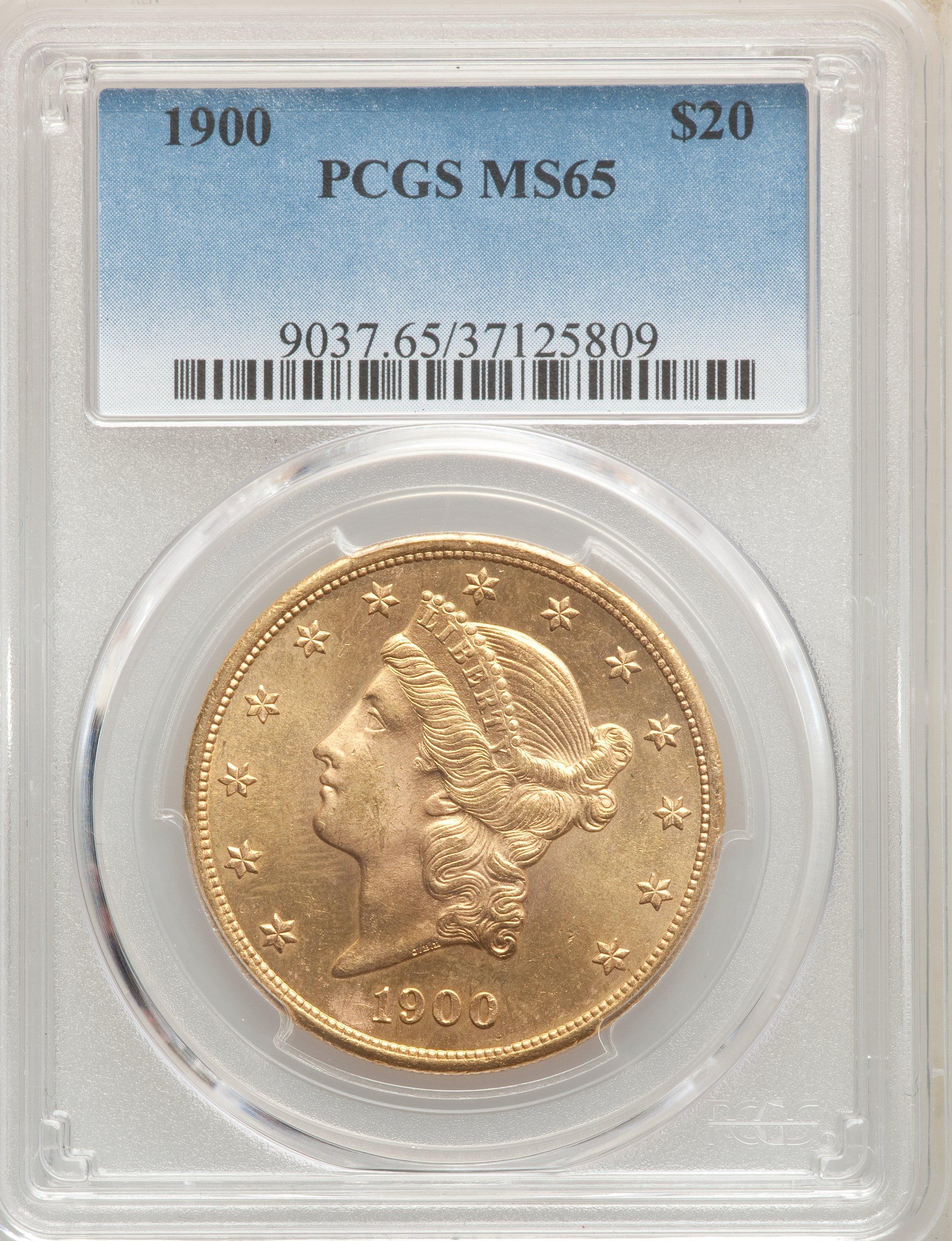 PCGS MS65 US Gold $20 Liberty Head Double Eagle Random Date