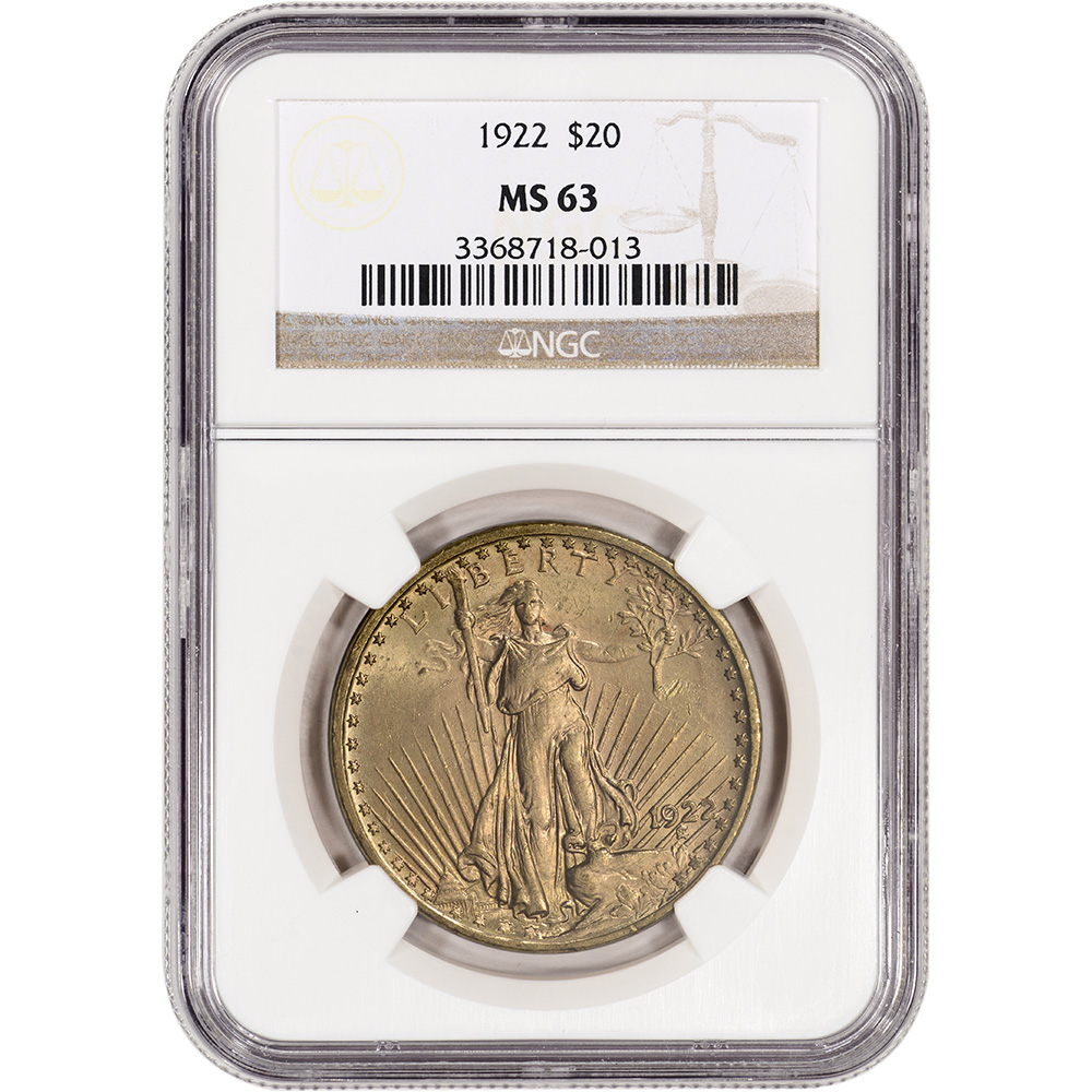 100% Quality 1923 Ngc Ms63 Gold Coin Fine Quality Saint Gaudens Double Eagle