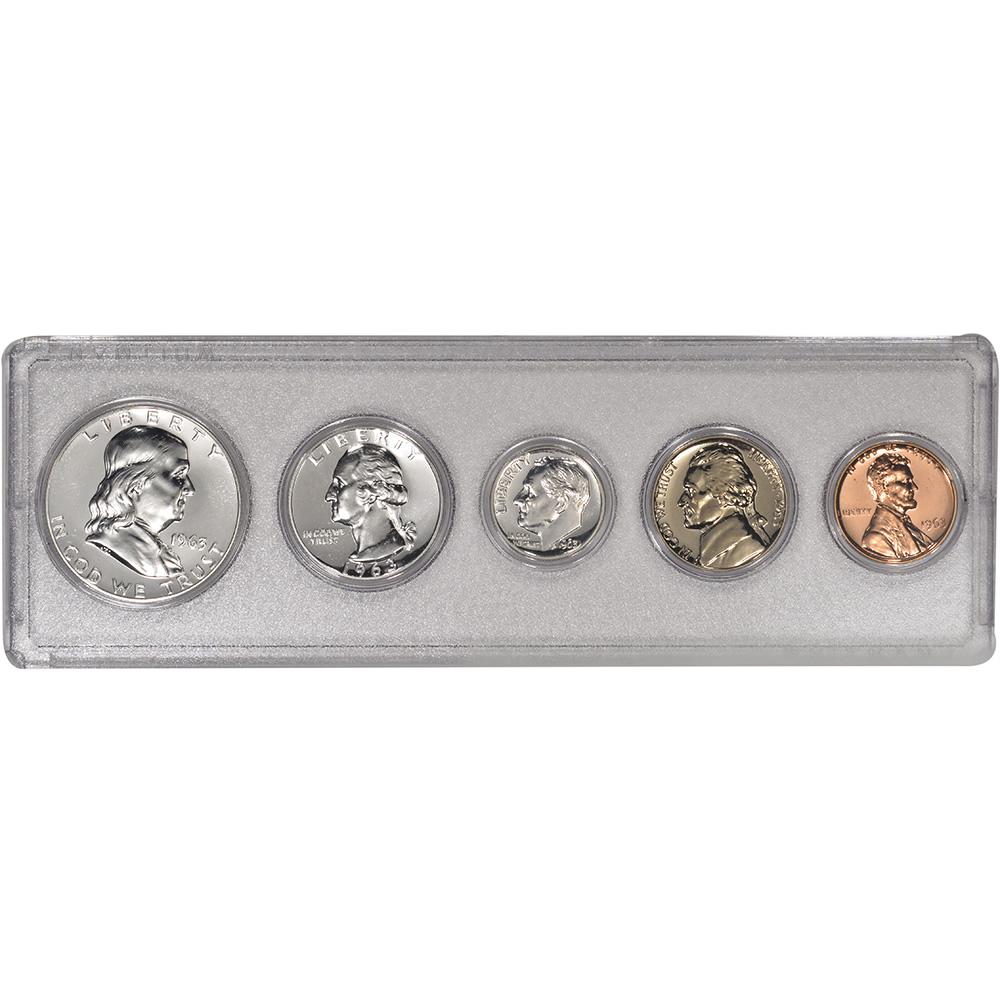 Gem Coins **SEALED** Mint Silver Proof Set 1963 U.S